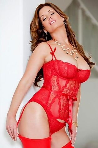 Carrie Stevens In Sexy Red Lingerie
