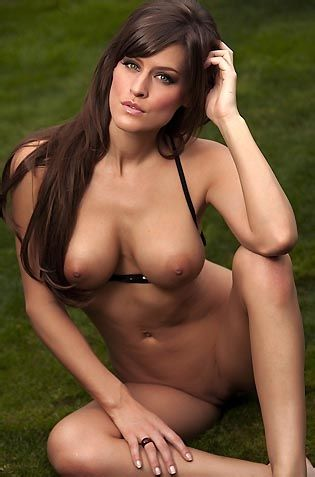 Lovely Brunette In The Garden