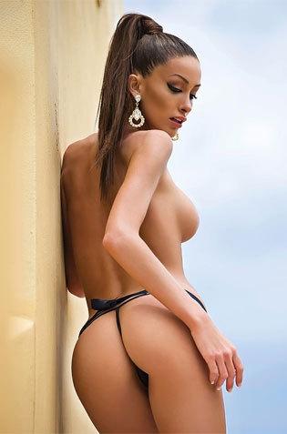 Topless Babe On Gstring Bikini