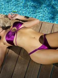 Devin Justine Hot Assed Blonde Babe By The Pool