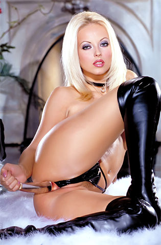 Leather Blonde Babe Loves Toying And Femdom Acts